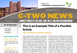 C-TWO Newsletter
